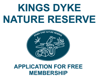 Kings dyke nature reserve membership application form